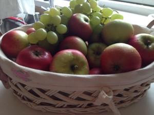 æbler lyser rødt